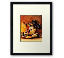 Mickey Mouse Drawing - Disney Framed Print