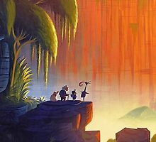 Up Disney - Panorama with All Characters by peetamark