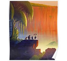 Up Disney - Panorama with All Characters Poster