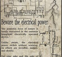 Steampunk Advisory Warning by Jon Burke