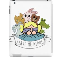 Leave Me Alone: Bubbles iPad Case/Skin