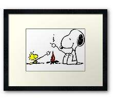 Snoopy and Woostock Peanuts Framed Print