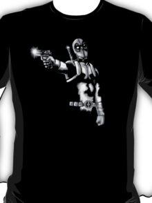 Deadpool Black and White T-Shirt