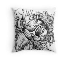 War Bird Doodle Throw Pillow