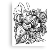 War Bird Doodle Canvas Print