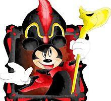 Mickey the Dark Sorcerer by flametheskull