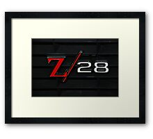 69 Z28 none as the ZAPPER Framed Print