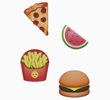 pizza melon burger fries emoji by shadowmoses