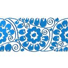 Blue flower - Art Nouveau mug by © Kira Bodensted