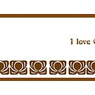 I love Coffee - Art Nouveau mug by © Kira Bodensted