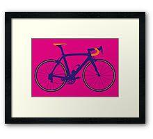 Bike Pop Art (Purple & Orange) Framed Print