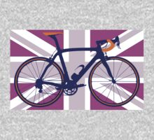 Bike Flag United Kingdom (Pink) (Big - Highlight) Kids Clothes