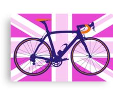 Bike Flag United Kingdom (Pink) (Big - Highlight) Canvas Print