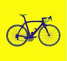 Bike Pop Art (Purple & Green) by sher00