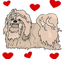 Lhasa Apso Love by kwg2200