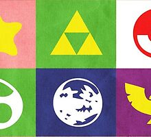 N64 Smash Bros Emblems by chrispocetti