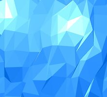 Polygonal Blue by WolfDesigner