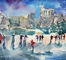 Ice Skating At Windsor Castle London by Ballet Dance-Artist