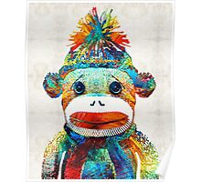 Sock Monkey Art - Your New Best Friend - By Sharon Cummings Poster