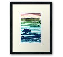 sea landscape Framed Print
