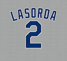 Tommy Lasorda Jersey Cover by BeinkVin