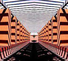 U LasVegas Library Walkway: Shadows by sandhill