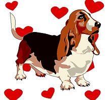 Basset Hound Love by kwg2200