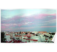 Albufeira rooftops Poster