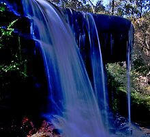 Wentworth Water Falls  , Blue Mtns , OZ by Warren. A. Williams