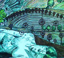 "Lady Loves a Landscape - Drypoint etching by Belinda ""BillyLee"" NYE (Printmaker)"