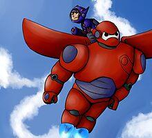 Big Hero 6 flight by Chrome-Colors