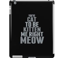 Are You Talkin To Me? iPad Case/Skin