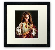 Beyonce Jesus Framed Print