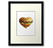 The Burger Life Framed Print