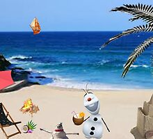 olaf in the summer with style by LokiLaufeysen
