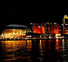 Singapore Central Business District Night Scene by sayeeth