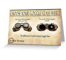 Steampunk:  Goggle Glass Greeting Card