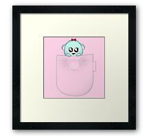 Cute pet baby animal in your pocket Framed Print