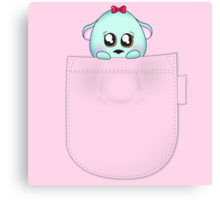 Cute pet baby animal in your pocket Canvas Print