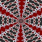 Red Black White Pattern by taiche