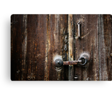Beypazari Door Handle (Brown) Canvas Print