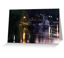 Riverboat Sunset.... Greeting Card