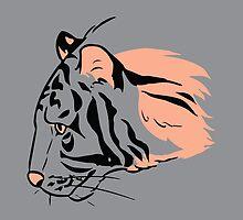 Tiger#1 (Steel) by heatherdraws