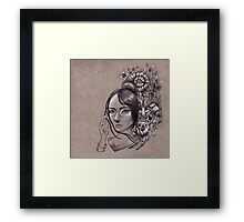 She Knows They Hide in the Flowers Framed Print