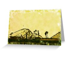Big Dipper, Santa Cruz Beach Boardwalk, California Greeting Card