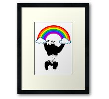climb to rainbow Framed Print