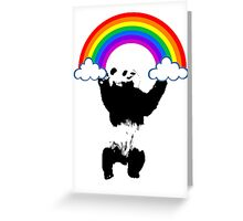 climb to rainbow Greeting Card