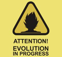Attention! Evolution in progress - Super Saiyan Tshirt Kids Clothes
