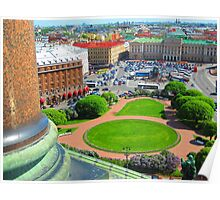 St. Isaac's Square from the Cathedral's Colonnade Poster