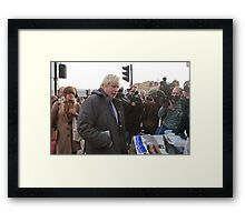 Boris Johnson visits Ealing Framed Print